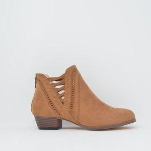 Women Woven Ankle Bootie Tan